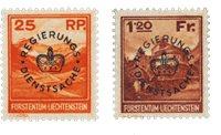 Liechtenstein 1933 - Michel D9-10 - Ubrugt