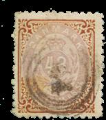Danimarca - 1870 - AFA 21, timbrato