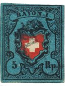 Suisse 1850 -  Michel 7II - Oblitéré