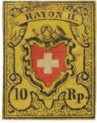Suisse 1850 - Michel 8II - Neuf avec charnière