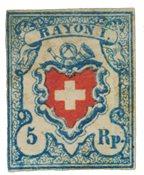 Suisse 1851 - Michel 9II - Neuf avec charnière