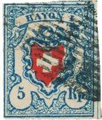 Switzerland 1851 - Michel 9II - Stemplet