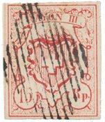Suisse 1852 - Michel 12 - Oblitéré