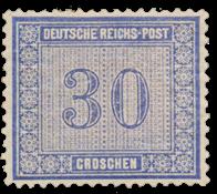 Impero Tedesco - 1872 - Michel 13, nuovo linguello