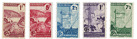 Francia - 1944/45 - Y&T 216A/20A, nuovo