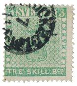 Suède 1855 - AFA 1 - Oblitéré