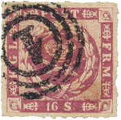 Danimarca - 1863 - AFA 10, timbrato