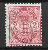 Indie Occidentali Danesi  - AFA 22 - Usata