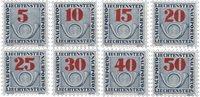 Liechtenstein 1940 - Michel  P21-P28 - Postfrisk