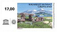 UNESCO: Kujataa - Postfrisk - Frimærke