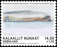 Dronningens akvareller - FGB - Postfrisk - Frimærke