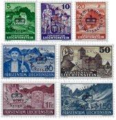 Liechtenstein 1937 - Michel  D20-D27 - Neuf