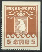 Grønland - Pakkeporto AFA 3A2 postfrisk