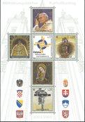 Østrig - Miniark med paven fra 2004