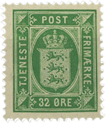 Danmark - AFA 7 postfrisk tjenestemærke