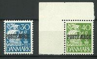 Danmark 1940 - Postfærgemærker - AFA PF24+25 - Postfrisk