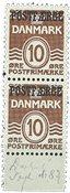 Danmark - Postfærge AFA 21 postfrisk i parstk.