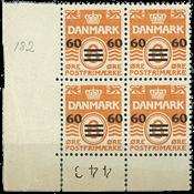 Færøerne - AFA 6A postfrisk marginal 4-blok