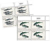 Fisk i Norden - Postfrisk - 4-blok øvre marginal