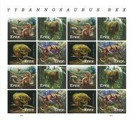 Etats-Unis - Tyrannosaurus Rex - Feuillet neuf 16v