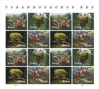 United States - Tyrannosaurus Rex - Mint sheetlet 16v