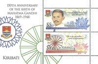 Kiribati - Mahatma Gandhi - Postituore pienoisarkki