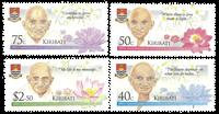 Kiribati - Mahatma Gandhi - Postfrisk sæt 4v