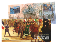 France - The most beautiful stamp 2018 - Mint souvenir sheet in folder