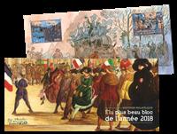 Frankrig - Årets smukkeste frimærke 2018 - Postfrisk miniark i folder
