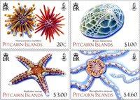 Pitcairn Øerne - Pighuder - Postfrisk sæt 4v