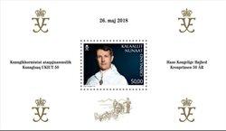 Kronprins Frederik 50 år - Postfrisk - Miniark