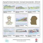 Dronningens akvareller - FGB - Postfrisk - Miniark