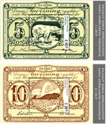 Old Gl. Banknotes III - Mint - Souvenir sheet