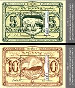 Gamle grl. pengesedler III - Postfrisk - Miniark