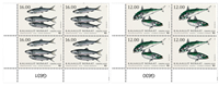 Fisk i Norden - Postfrisk - 4-blok nedre marginal