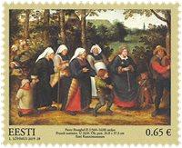Estonie - Musée d'art, Pieter Brueghel - Timbre neuf