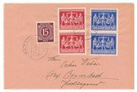 Tyskland Zoner 1946/1948 - Michel 921+969/970 - Stemplet