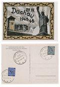 Zones allemandes 1945-46 - Carte commémorative en couleur et originale