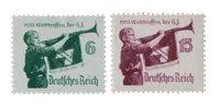 Tyskland - Tyske Rige 1935 - Michel 584/585 - Ubrugt