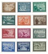 Tyskland - Tyske Rige 1939 - Michel 702/713 - Ubrugt