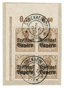 États allemands 1919 - Michel 137 POR - Oblitéré