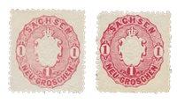 Tyskland stater 1863/1866 - Michel 16a+b - Postfrisk