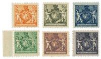 Liechtenstein 1921 - Michel 47/52B - Neuf