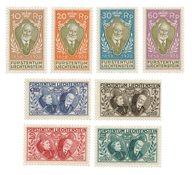 Liechtenstein 1928 - Michel 82/89 - Neuf