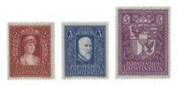 Liechtenstein 1933 - Michel 140/142 - Neuf