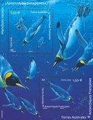Fransk Antarktis - Pingviner - Postfrisk miniark