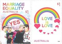 Australien - Bryllup mellem homoseksuelle - Postfrisk sæt 2v