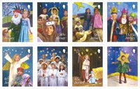 Jersey - Childrens Nativity Play - Mint stamp