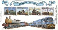 Botswana - Centenaire des chemins de fer - Bloc-feuillet neuf