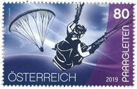 Østrig - Paragliding - Postfrisk frimærke